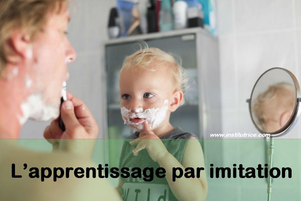 apprentissage par imitation père