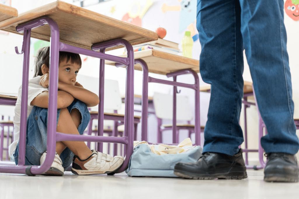 la peur d'être d-un enfant