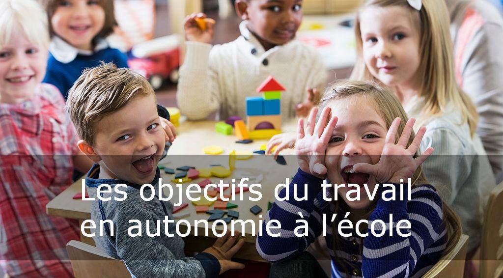 travail en autonomie à l'école primaire