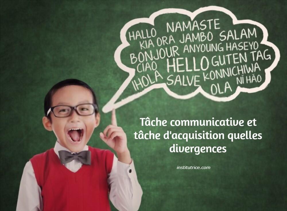la tache communicative